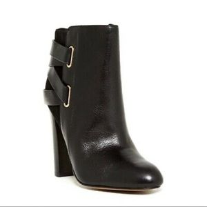 Isola Black Enzo Leather Ankle Boot